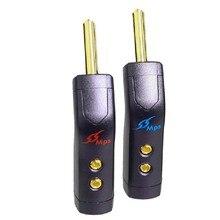 HiFi MPS Nord Star HiFi Speaker Banana Plugs Connettore di rame puro 24K Rhodium Placcato oro Per Amplificatore Altoparlante Per 8 millimetri
