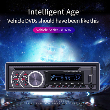 8169A 1 Din Bluetooth Car Stereo MP3 Player 1din Autoradio CD VCD DVD AUX USB 2.0 FM Radio Auto Audio Video Car Player Head Unit image