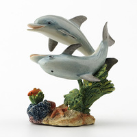 British Designer Realism Two dolphins hand Fife home Factory Statue Figure sculpture Home factory accessories