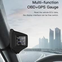 HUD – affichage tête haute OBD + GPS, double système intelligent, chronomètre de conduite, compteur de vitesse, odomètre, système numérique d'alarme