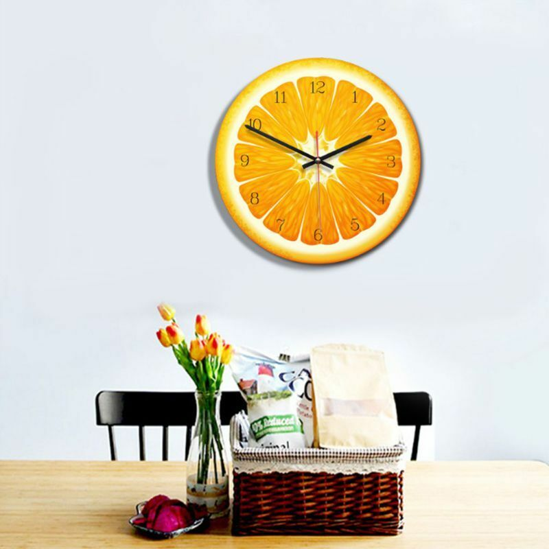 1PC Creative Fruit Wall Clock Lime Modern Kitchen Lemon Clock Watch Home Decor Living Room Clock Tropical Fruit Wall Timepieces|Wall Clocks| |  -