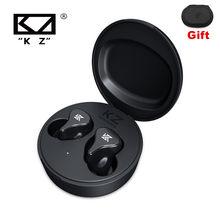 Kz z1 pro tws bluetooth 5.2 koptelefloon verdadeiro jogo draadloze oordopjes controle de toque cancelamento ruído fone ouvido esporte alta fidelidade