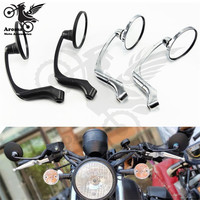 retro classic motorbike rear view mirrors vintage moto side mirrors for harley sportster cafe racer motorcycle rearview mirror