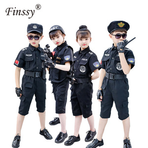 Image 2 - Boys Policemen Costumes Children Cosplay for Kids Army Police Uniform Clothing Set Long Sleeve Fighting Performance Uniforms