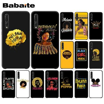 Babaite 2bunz Melanin Poppin Aba black girl magic Phone Cover for Huawei P9 P10 Plus Mate9 Mate10 Lite P20 Pro Honor10 View10 image
