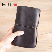 AETOO Hand bag, male leather vintage wallet, multi-function