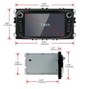 Image 2 - Autoradio 2 الدين أندرويد 10.0 مشغل أسطوانات للسيارة راديو لفورد فوكس مونديو s ماكس كوجا c ماكس واي فاي عجلة القيادة السيطرة dab 4GB + 64GB