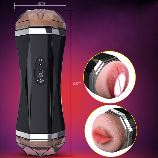 Masturbation Cup Realistic Vagina Sex Machine Sex Toy for Men Deep Throat Oral Sex Powerful Vibrator Motion Sensing AI Vibration 5