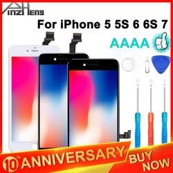 2019 100% AAAA 3D ekran dotykowy oryginalny lcd dla iPhone 7 6 6s 5s 5 wyświetlacz LCD Digitizer nie martwy piksel wymiana ekranu dotykowego w Ekrany LCD do tel. komórkowych od Telefony komórkowe i telekomunikacja na