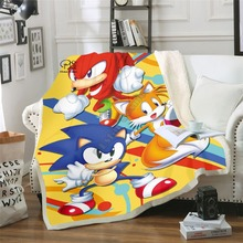 Anime Super Sonic Blanket Design Flannel Fleece Blanket Printed Children Warm Bed Throw Blanket Kids Blanket style-2