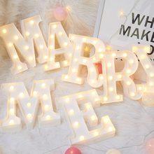3D светодиодный ночник 26 букв 0-9 цифровой знак маркиза светящийся Алфавит настенный светильник домашний Декор Свадебная вечеринка светодиодный ночник