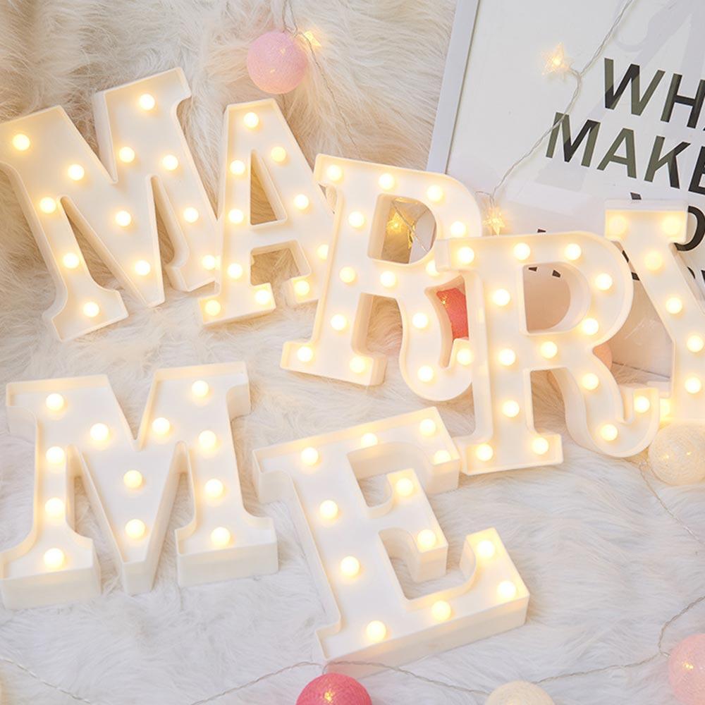 3D LED lampe de nuit 26 lettre 0-9 numérique chapiteau signe Alphabet lumière tenture murale lampe décor intérieur fête de mariage LED veilleuse
