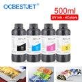 500 мл 4 цвета/набор LED УФ чернила для DX4 DX5 DX6 DX7 печатающая головка для Epson 1390 R1800 R1900 4800 4880 7880 UV принтер (BK C M Y)