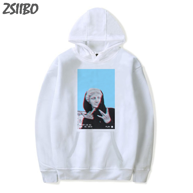 Harajuku Hoodie Coat Sweatshirt Male David Hip-Hop-Streetwear Printed Funny Michelangelo title=
