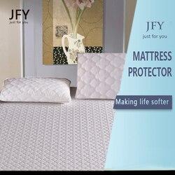 JFY wodoodporna poduszka ochraniacze łóżko king-size Bug Proof hipoalergiczne zapinane na zamek okładki zestaw 2 duży rozmiar 20x36