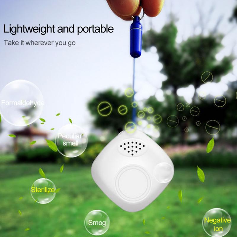 Personal Wearable Air Purifier Necklace Mini Portable Air Freshener Ionizer Negative Ion Generator Car Home Dual Air Purifiers