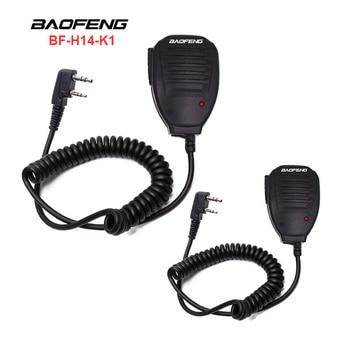 2PCS Original Baofeng UV5R Handheld Microphone Speaker MIC For Baofeng Portable Radio UV-5R BF-888S BF-UVB3 Plus Walkie Talkie