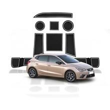 LFOTPP Tür Nut Matte Für Ibiza Typ 6F 2018 2019 2020 Fließheck Anti-slip Tür Tor Slot Pads Auto innen Zubehör 9 Pcs