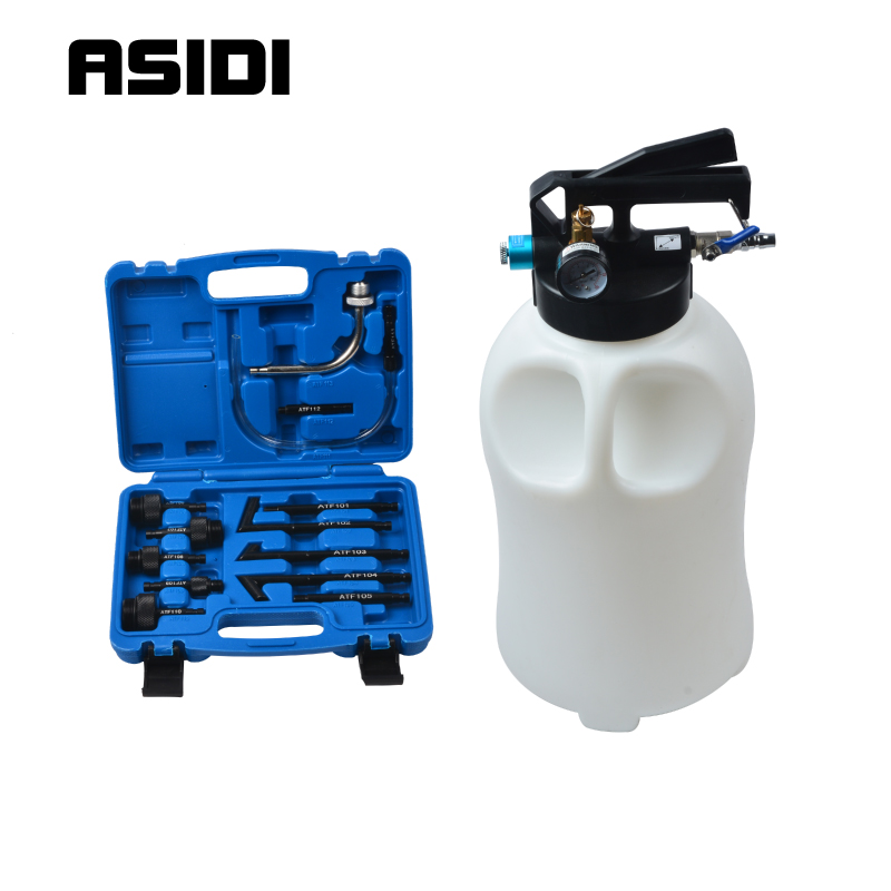 10L Pneumatic Transmission Oil Filling Tool Fluid Extractor Dispenser Refill Pump Tool Kit With 13pcs ATF Adaptor  PT1656