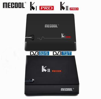 Mecool DVB-T2 Android KI PRO KII PRO DVB-S2 S905D TV kutusu dört çekirdekli 2GB 16GB Mecool 4K medya oynatıcı çift Wifi K1 PRO K2 PRO tv kutusu