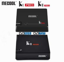 Mecool DVB T2 أندرويد كي برو كي برو DVB S2 S905D صندوق التلفزيون رباعية النواة 2GB 16GB Mecool 4K مشغل الوسائط المزدوج واي فاي K1 برو K2 برو TVBOX