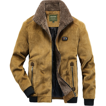 Man Corduroy Cotton-padded Clothes Outdoors Camping Work Sport Increase Velvet Cotton Clothing Leisure Time Men's Wear Keep Warm