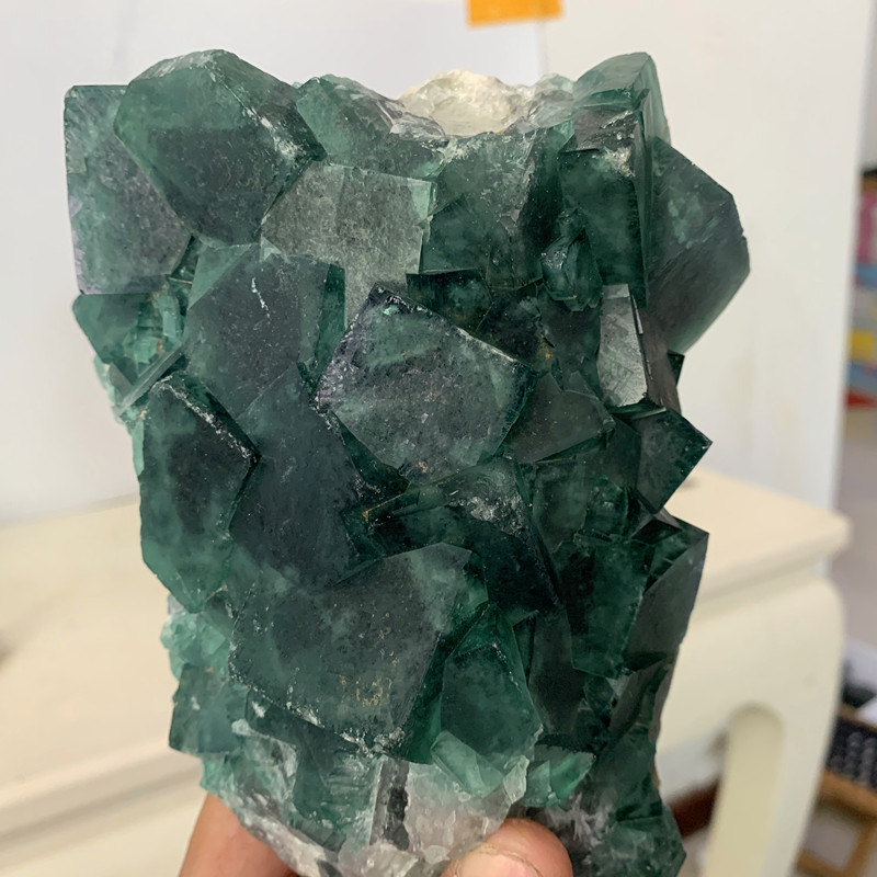 Natural Green Fluorite Crystal Mineral Samples Powerful Energy Stones Home Decorative Healing Crystal
