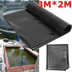 3x2 m 검은 물고기 연못 라이너 천으로 홈 가든 풀 강화 hdpe 무거운 조경 풀 연못 방수 라이너 천을 새로운