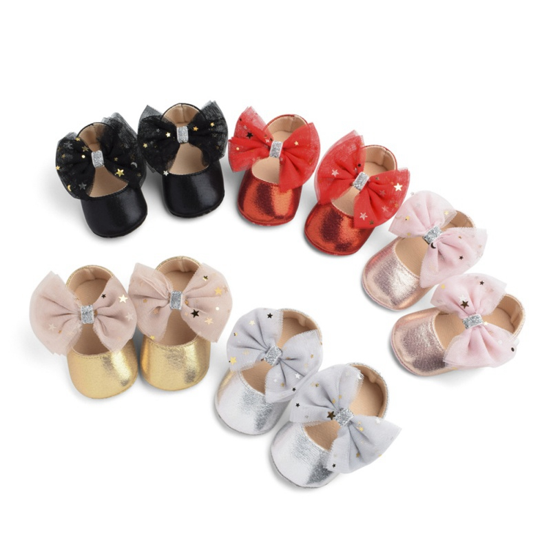 5 Colors PU Leather Baby Shoes Boy Girl Baby Moccasins Bow Fringed Soft Soled Non-slip Footwear Crib Shoes First Walkers
