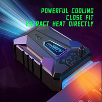 COOLCOLD Vacuum Portable Laptop Cooler USB Air Cooler External Extracting Cooling Fan Notebook for 15 15.6 17 Inch Laptop