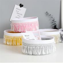 Корзина для хранения хлопковой веревки плетеная корзина белья
