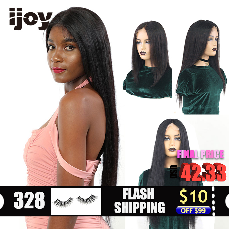 13*6 Brazilian Human Hair Straight Lace Front Wig Natural HD Transparent Lace Bob Wig 30 Inches 150% Non-Remy Pre-Plucked IJOY