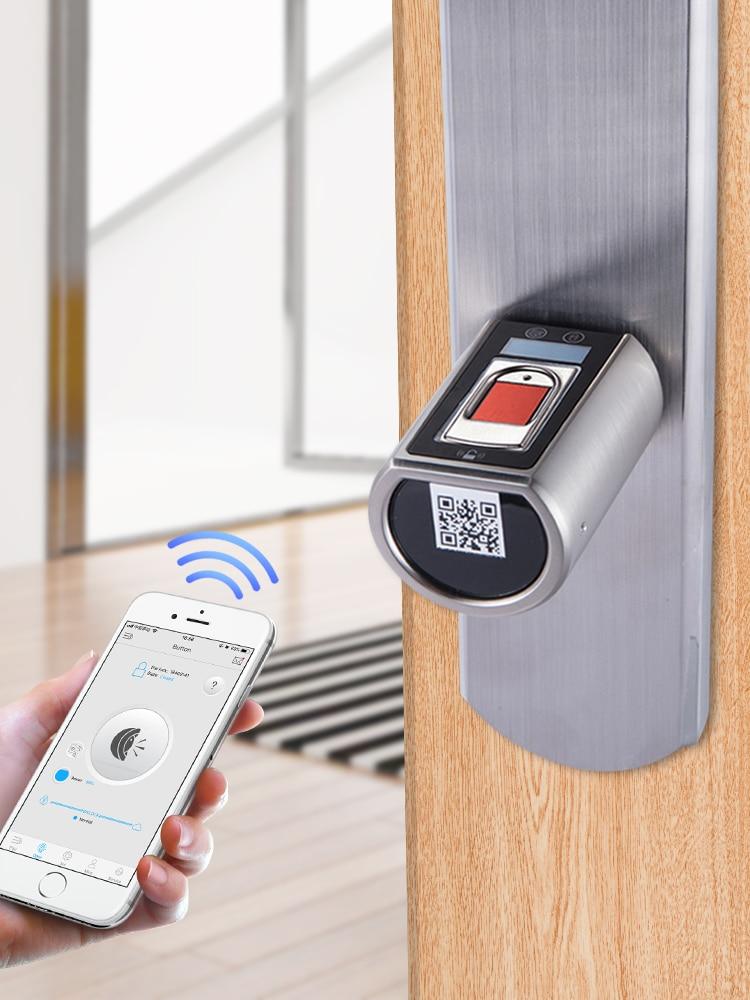 H4b238a06cb474005af1053b5d6a9356dl L5SR-Plus WELOCK Bluetooth APP Smart Lock Electronic Cylinder Outdoor Waterproof Keyless Biometric Fingerprint Scanner door lock