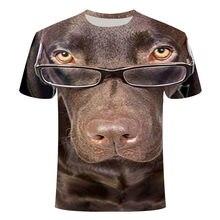 Camiseta con diseño de perro Camiseta casual 3DT para hombre Camiseta divertida Ropa urbana Talla grande 2021 Nuevo