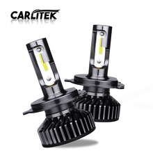 Carlitek H7 H4 ledターボ 12 12v車の自動車ヘッドライトdob電球ランプh 11 led HB4 HB3 H7 H8 フォグヘッドライト 4300 18k 5000 18k 6500 18k 10000LM