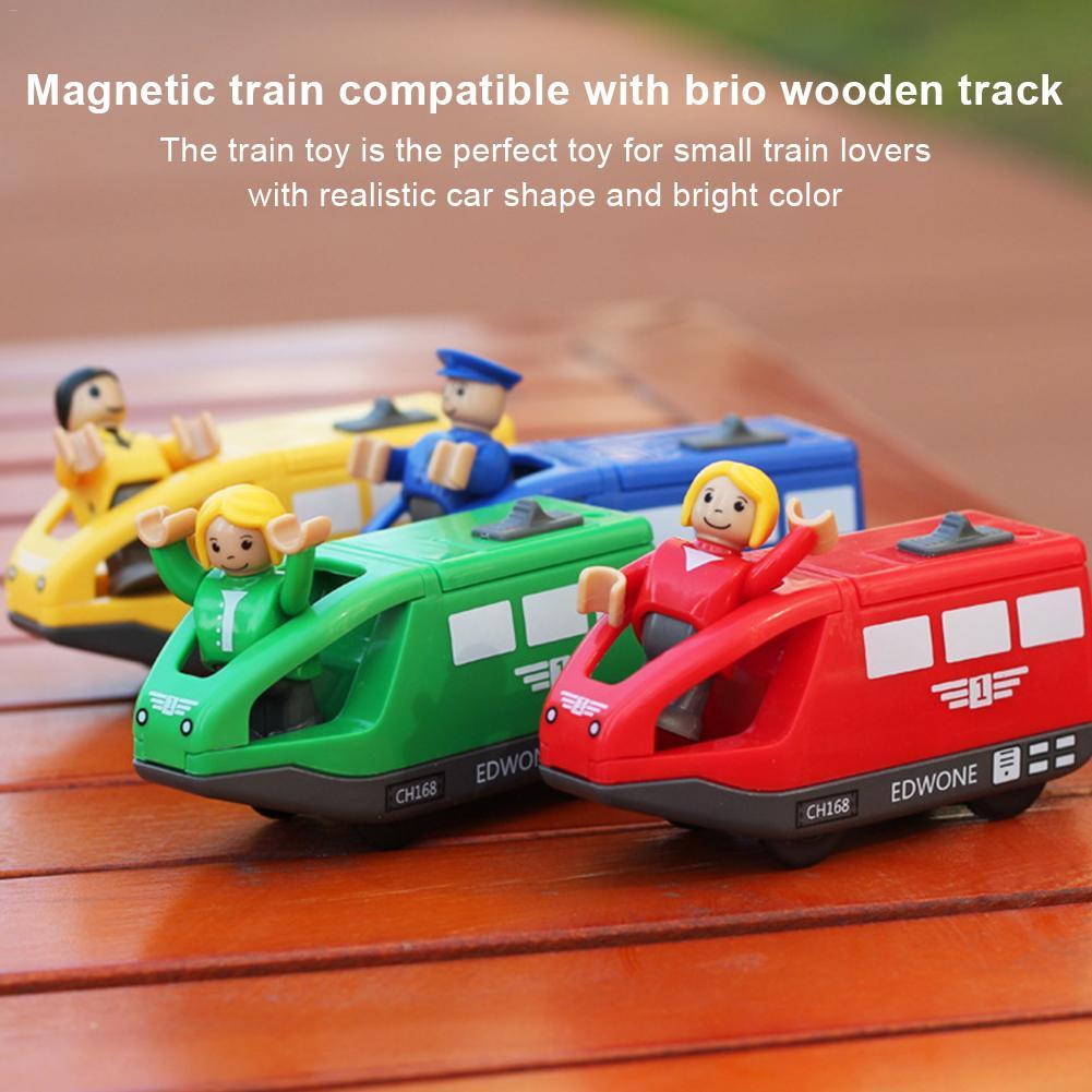 Elektrische Magnetische Zug Spielzeug Lokomotive Spielzeug Auf Thomas Holz Track Spaß Spielzeug Für Kinder