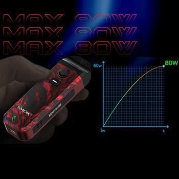 SMOK Nord – Kit Mod 4 dosettes 80W, batterie intégrée 2000mAh, système de dosette à cartouche 4.5ml pour Cigarette électronique