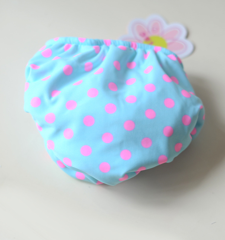 KID'S Swimwear Infant Men And Women Baby Blue Towel Cloth Swimming Trunks Velcro Swimming Diaper Pants