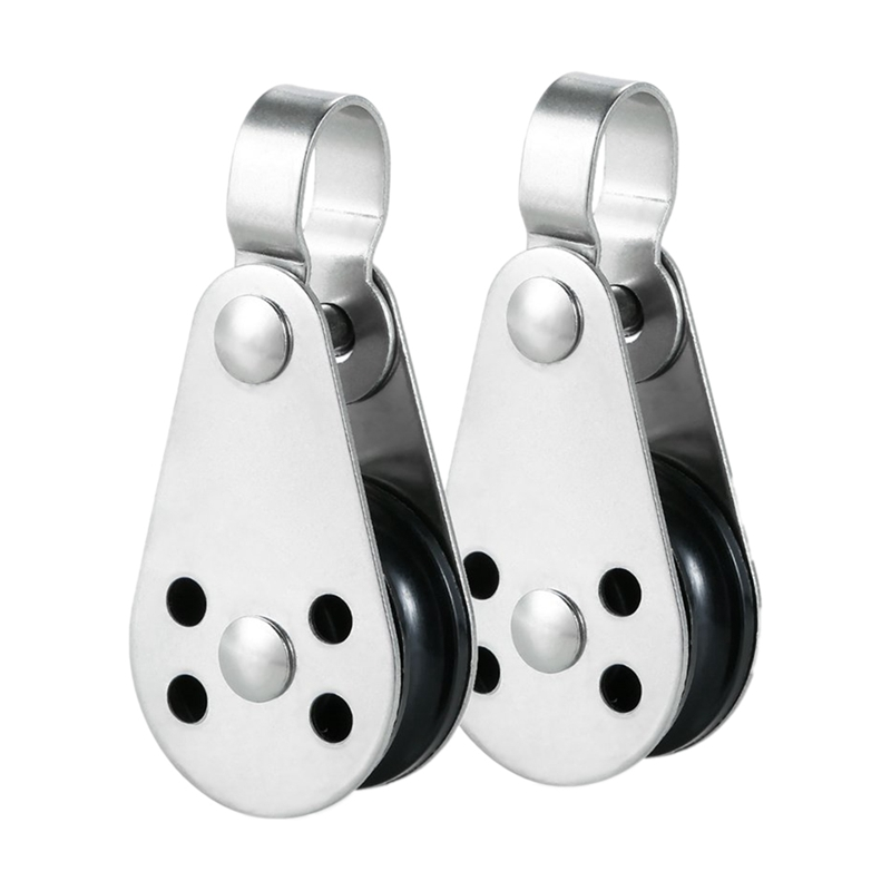 Sensible 2pcs Stainless Steel Pulley Blocks For Kayak Canoe Boat Anchor Trolley Kit Refreshing And Beneficial To The Eyes
