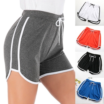 Plus Size Shorts For Women 2020 Summer Elastic Waist Sportswear Bottoms Classic Side Striped Short Tracksuits Multi Color S-4XL