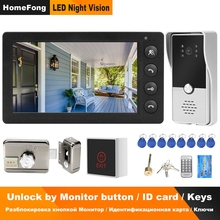Video-Intercom Lock Access-Control-System-Kit Wired Electronic-Lock Homefong Monitor