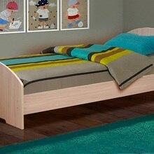 Кровать одинарная Матрица №2 на уголках (Дуб млечный, ЛДСП, Дуб млечный, 700x1900 мм) Матрица