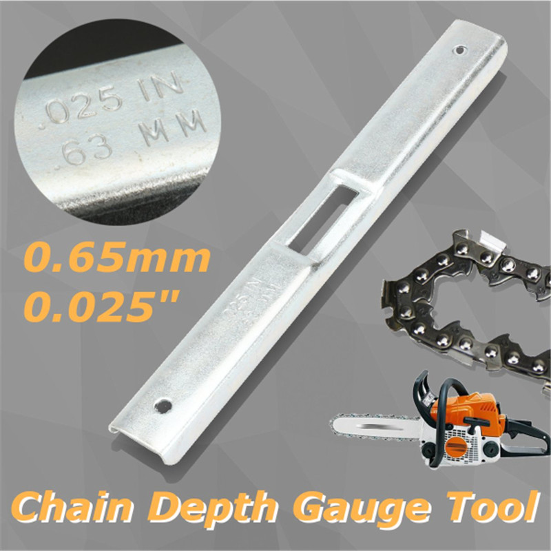 Measurement Tools PN 27530 0.65mm Chain Saw Chain Depth Gauge File Guide Tool Chainsaw Instrument Parts For Garden Tools