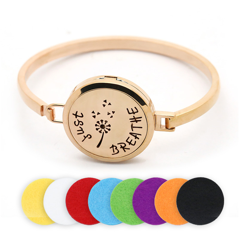 BOFEE Essential Oil Bracelet Magnetic Aromatherapy Diffuser Locket Bangles Perfume Stainless Steel Charm Fashion Jewelry Gift