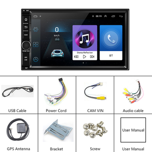 Image 5 - Podofo Android Car Multimedia Player 2 DIN 7 Touch Screen วิทยุบลูทูธ MP5 Player WIFI วิทยุ FM