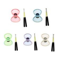 Triple roulement moyen chinois Yoyo Diabolo jouet avec des bâtons de carbone, 4 couleurs pour choisir, enfants adultes fête faveurs jeux jouets