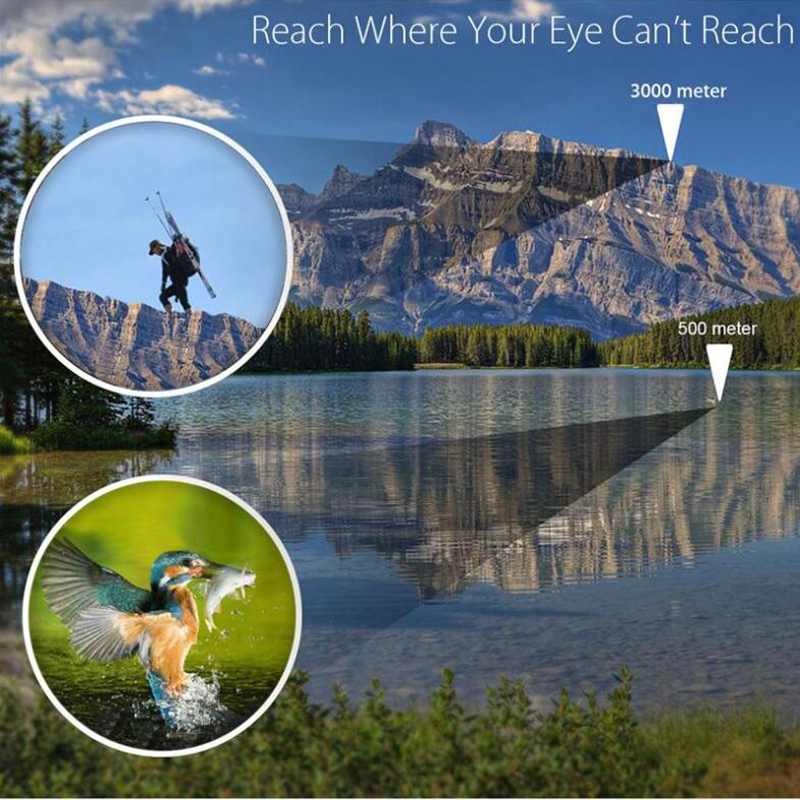 High Power HD Monocular Telescope 16X52 Sniper Binoculars Tourism Spyglass LLL Night Vision For Camping Hunting Child Gift 2
