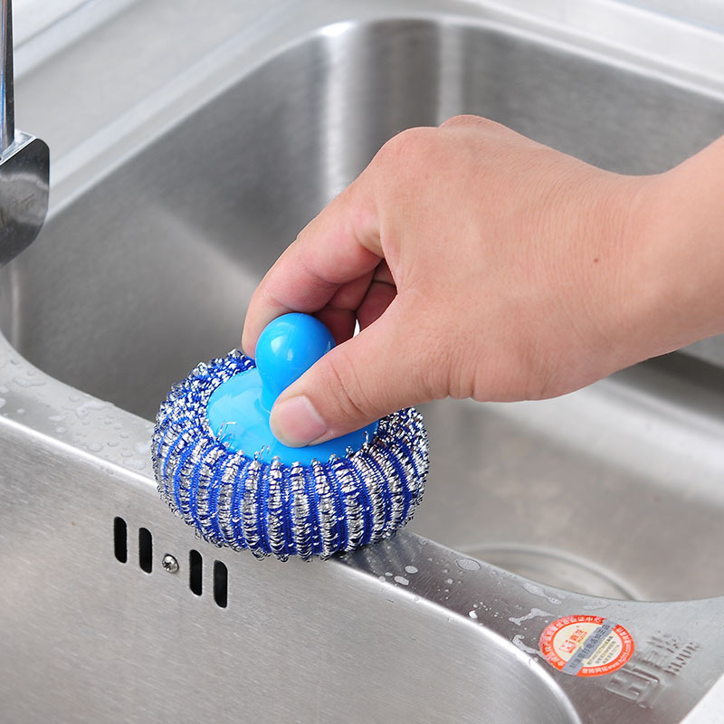 Cleaning Brush Cleaning Ball Plastic Cleaning Ball Color Nylon Wire Dishwashing Brush Non Stick Pan Washing Brush Decontaminatio in Cleaning Brushes from Home Garden