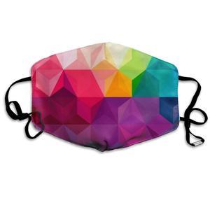 Пыле Моющиеся Многоразовые Гео красочные треугольники рот крышка маска респиратор зародыши Защитная теплая Ветрозащитная маска