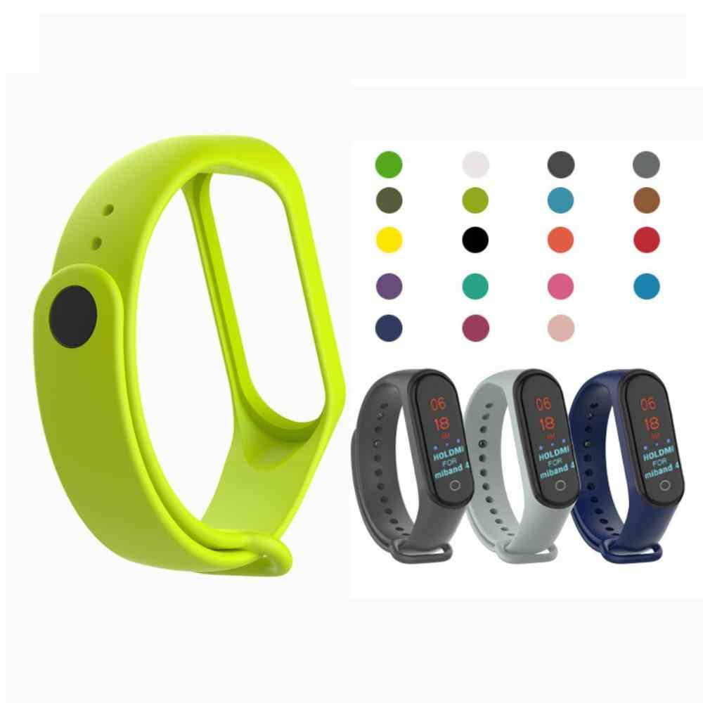 Moda para xiao mi mi banda 4/3 pulseira de substituição esporte pulseira de silicone pulseira de dois tons pulseira de substituição